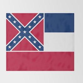 Mississippi State Flag, HQ image Throw Blanket