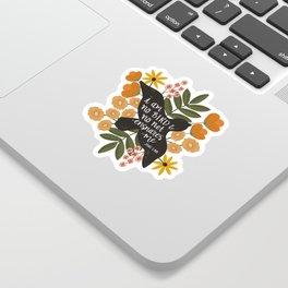 I Am No Bird Jane Eyre Quote Sticker