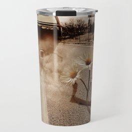 Exhausting Pipe Flowers Travel Mug