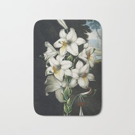 The White Lily - The Temple of Flora Bath Mat