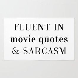 Fluent in Sarcasm Rug