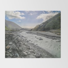 Beyond the Glacier Valley Throw Blanket