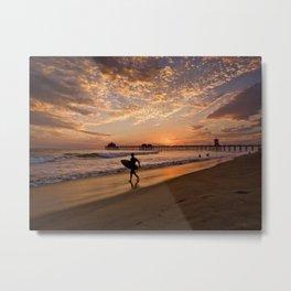 Surf City Sunsets   9/10/15   Huntington Beach California  Metal Print