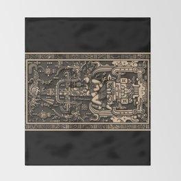 Sala Tumba de Pakal Throw Blanket