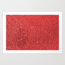 Water Condensation 05 Red Art Print
