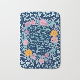 Let Your Light Shine- Matthew 5:16 Bath Mat