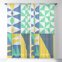 Mid Century 04 Sheer Curtain