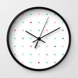 Small triangles Wall Clock