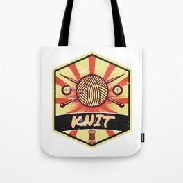 Knitting Propaganda   Knit Wool Hobby Tote Bag