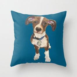 Cute Terrier Mix Throw Pillow