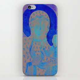 Virgin Mary Our Lady of Czestochowa Madonna and Child Jesus Religion Christmas Gift iPhone Skin
