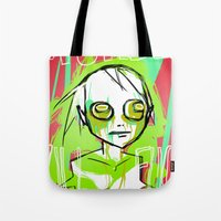dramatical murder Tote Bags featuring MURDER by ASHES