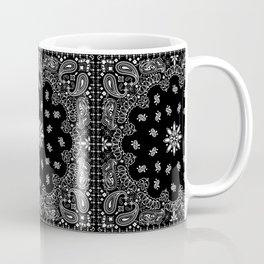 black and white bandana pattern Coffee Mug