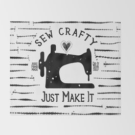 Sew Crafty - Just Make It - Do It Yourself - Throw Blanket