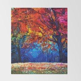 Tardis Tree Art Blossom Throw Blanket