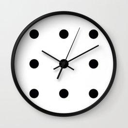 Nine Black Circles Wall Clock