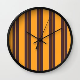 Retro Vintage Striped Pattern Wall Clock