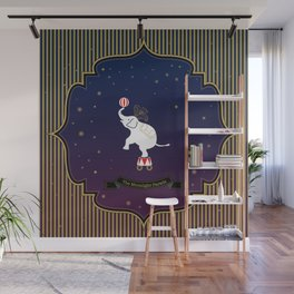 The Moonlight Parade-Elephant Wall Mural