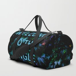 Welcome to the Jungle - Neon Typography Duffle Bag