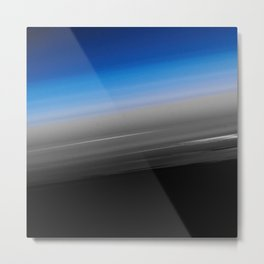 Blue Gray Smooth Ombre Metal Print