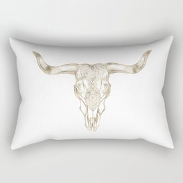 Bull Skull Gold Rectangular Pillow