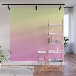 PEACH DREAMS - Minimal Plain Soft Mood Color Blend Prints Wall Mural