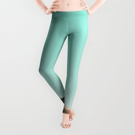 In The Distance - Turquoise Nature Photography Leggings