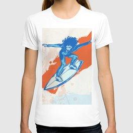 surfer on wave T-shirt