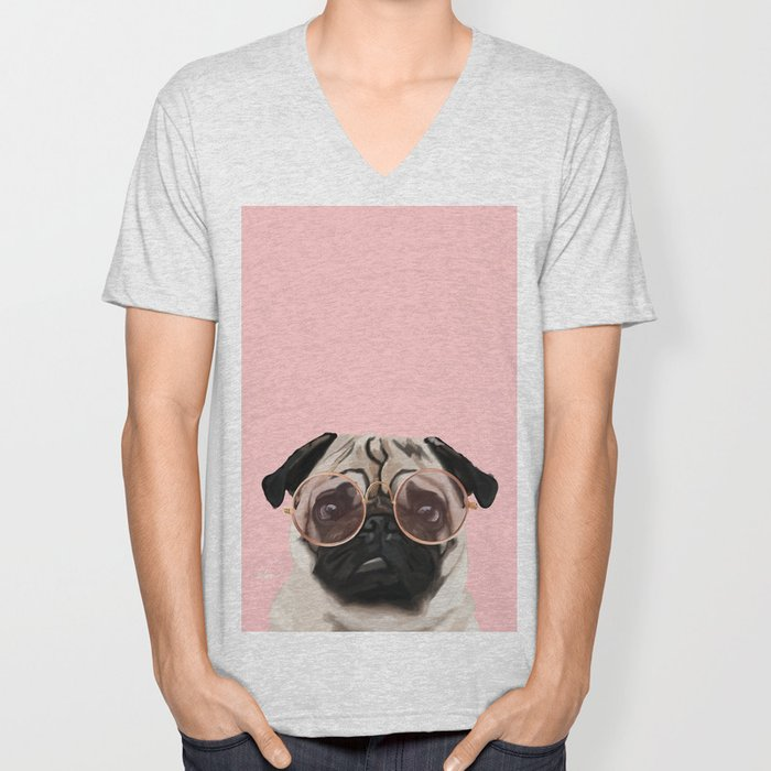 Intellectual Pug Unisex V-Neck
