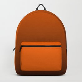 Dark Halloween Pumpkin Orange and Black Deadly Ombre Nightshade Backpack