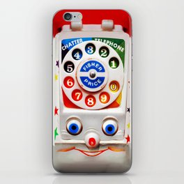 Retro Vintage smiley kids Toys Dial Phone iPhone 4 4s 5 5s 5c, ipod, ipad, pillow case and tshirt iPhone Skin