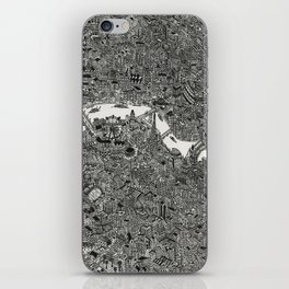 London map drawing ink pen iPhone Skin