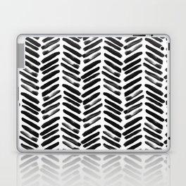 Simple black and white handrawn chevron - horizontal Laptop & iPad Skin