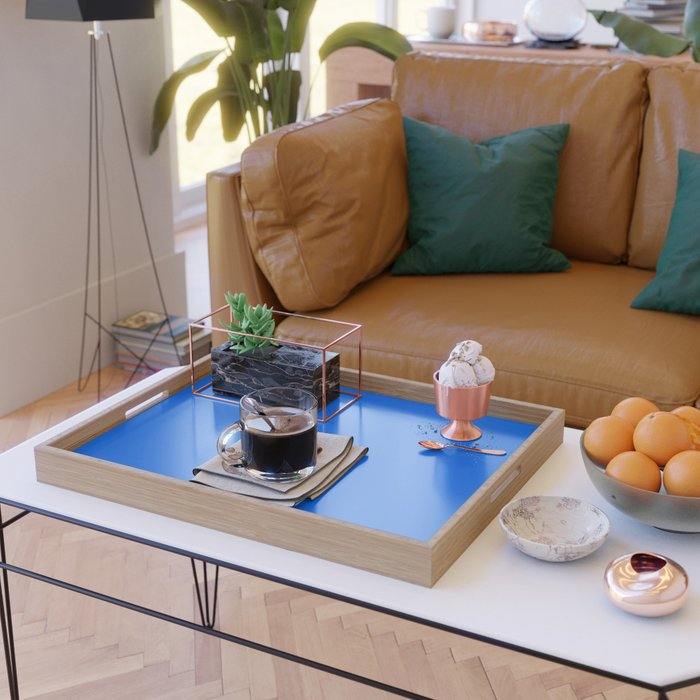 Unfinished ~ Bright Blue Serving Tray