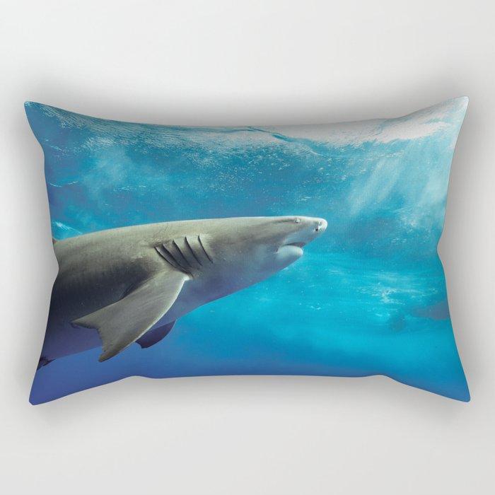 Lemon Shark Rising Rectangular Pillow