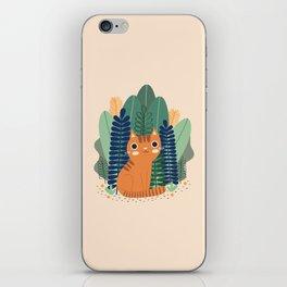 Orange Garden Cat iPhone Skin