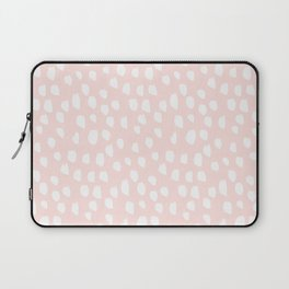 Handdrawn dots on pink- Mix&Match with Simplicty of life Laptop Sleeve