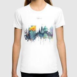Oakland California Blue  skyline print T-shirt