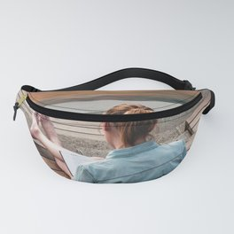 Girl and swan Fanny Pack
