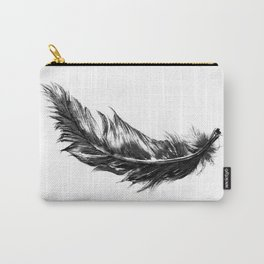 Feather- B&W // Illustration Carry-All Pouch
