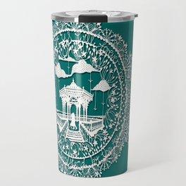 Seaside Bandstand Hand-Cut Papercut Travel Mug