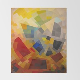 Otto Freundlich Komposition 1939 Mid Century Modern Abstract Colorful Geometric Painting Pattern Art Throw Blanket