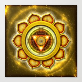 "Manipura Chakra - Solar Plexus Chakra Series ""Open Chakra"" Canvas Print"