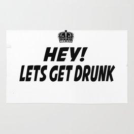 Lets Get Drunk Rug