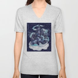 Dream Castle II Unisex V-Neck