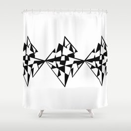 Black Diamond Shower Curtain