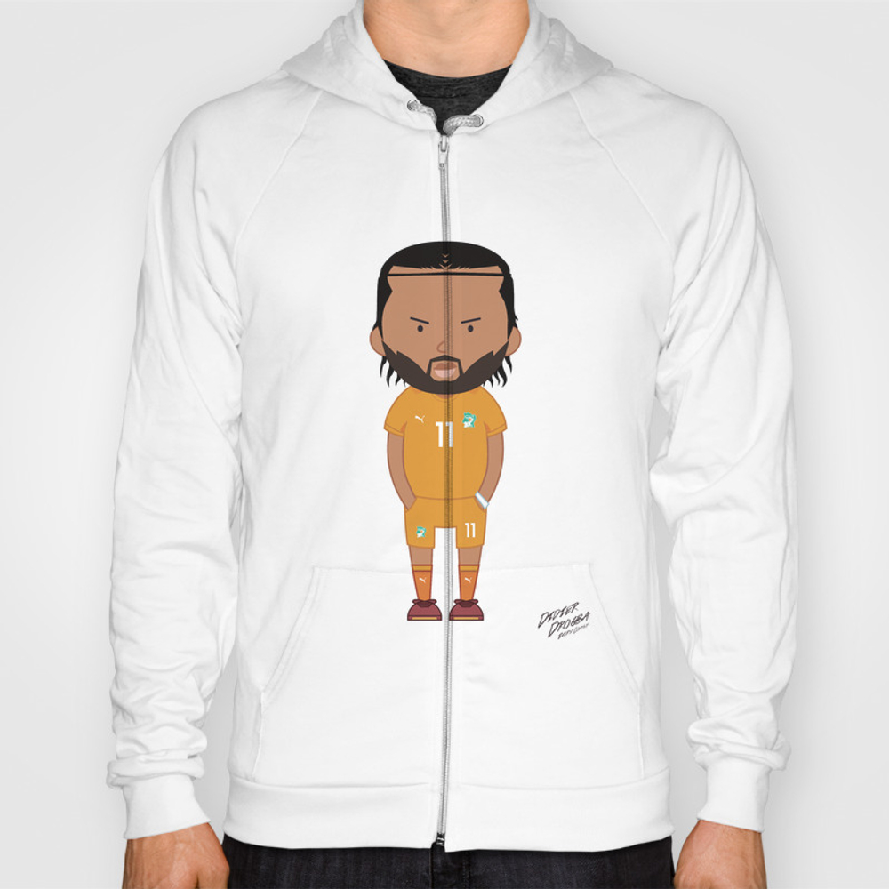 Didier Drogba - Ivory Coast - World Cup 2014 Hoody by Toonsoccer SSR9022451