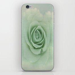 Dreamy Vintage Floating Rose iPhone Skin