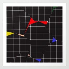 Optical Illusion Grid Art Print