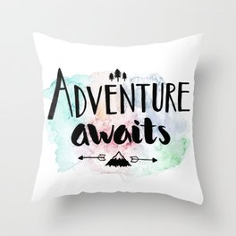 Adventure Awaits Throw Pillow
